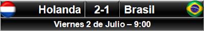 Holanda 2-1 Brasil