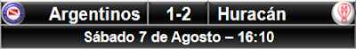 Argentinos Juniors 1-2 Huracán