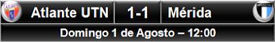Atlante UTN 1-1 Venados Mérida
