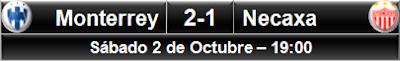 Monterrey 2-1 Necaxa