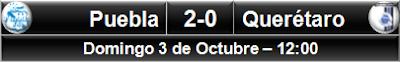 Puebla 2-0 Querétaro