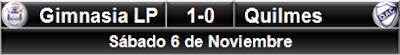 Gimnasia LP 1-0 Quilmes