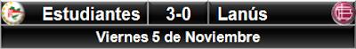 Estudiantes LP 3-0 Lanús