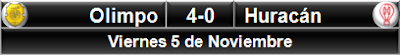 Olimpo 4-0 Huracán