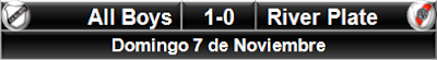 All Boys 1-0 River Plate