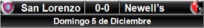 San Lorenzo 0-0 Newell's