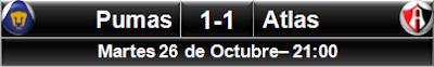 Pumas UNAM 1-1 Atlas