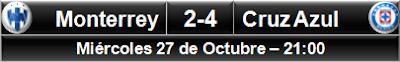 Monterrey 2-4 Cruz Azul