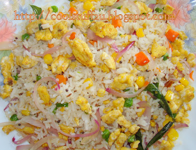 Egg fried rice south indian recipes andhra kitchen telugu egg fried rice fast easy ccuart Choice Image
