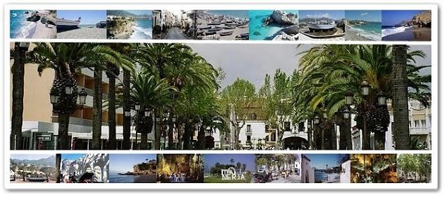 Un mix de imágenes de Nerja, Málaga, Costa del Sol