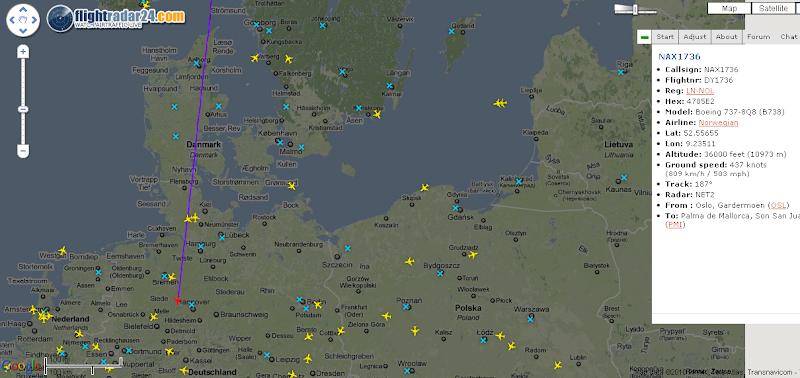 Online Flight-Radar