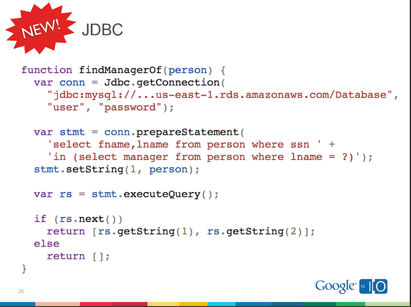 Google-Apps-Script-JDBC