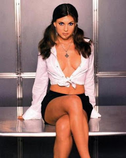 Cerina Vincent in sheer top