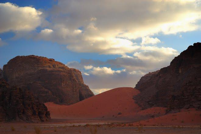 La zona de las dunas rojas