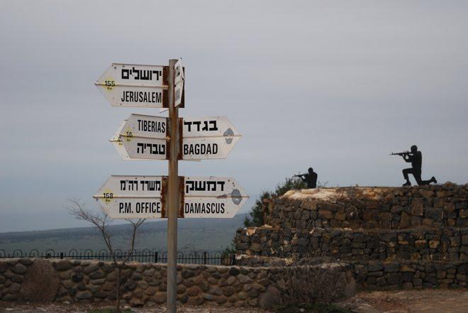 Por los altos del Golán, en un antiguo búnquer