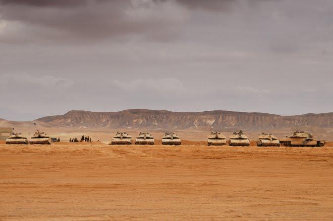 Encuentro sorpresa con las fuerzas armadas de Israel en el desierto del Negev