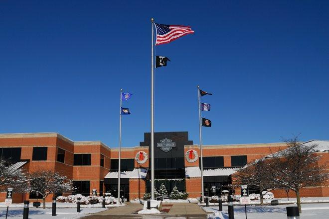 La fábrica Harley-Davidson en Wauwatosa, Milwaukee - Wisconsin