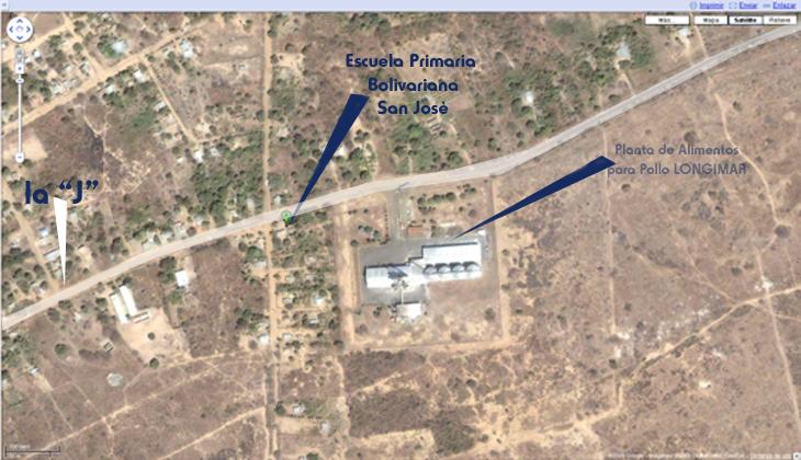 Mapa de Ubicaciòn de la Escuela del Proyecto Servicio Comunitario