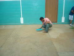 limpiando el piso