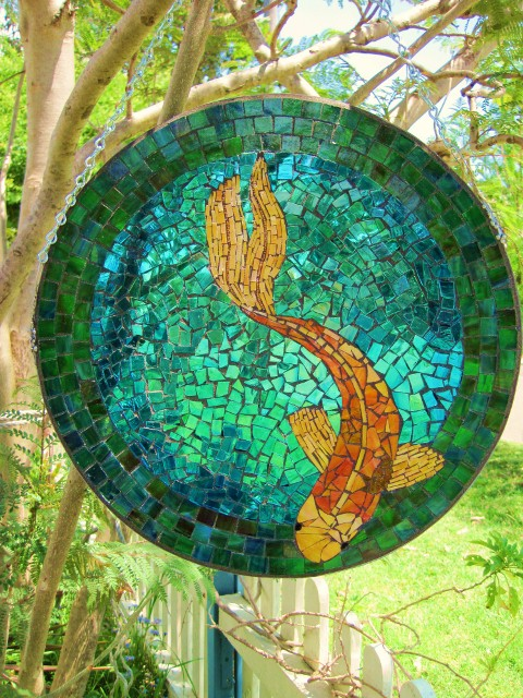nice Koi Mosaics Part - 5: In My Studio, the art of Deborah Mattson