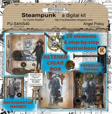"""Steampunk"" is just one of the digital clipart sets ..."