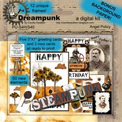 """Dreampunk"" ... is just one of the digital clipart sets ..."