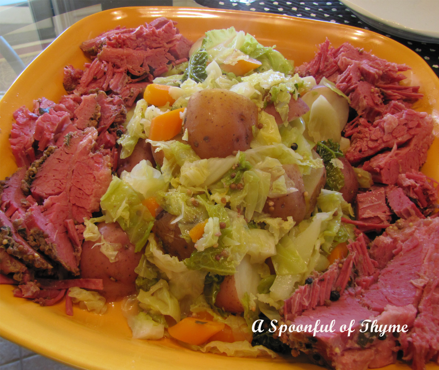 Spoonful of Thyme: Corned Beef and Cabbage
