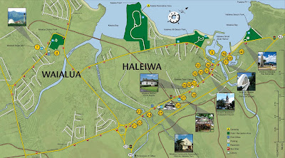 Haleiwa Town Map