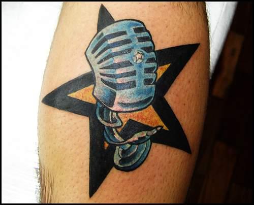 Tatuaje de Estrellas en el pie - Tatuaje AFI