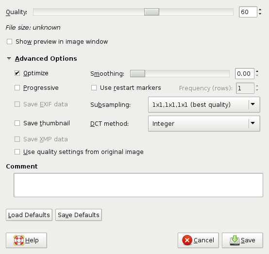 GIMP setup