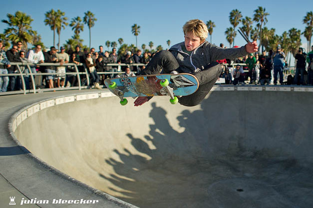 Venice Am skateboard contest, Eddie