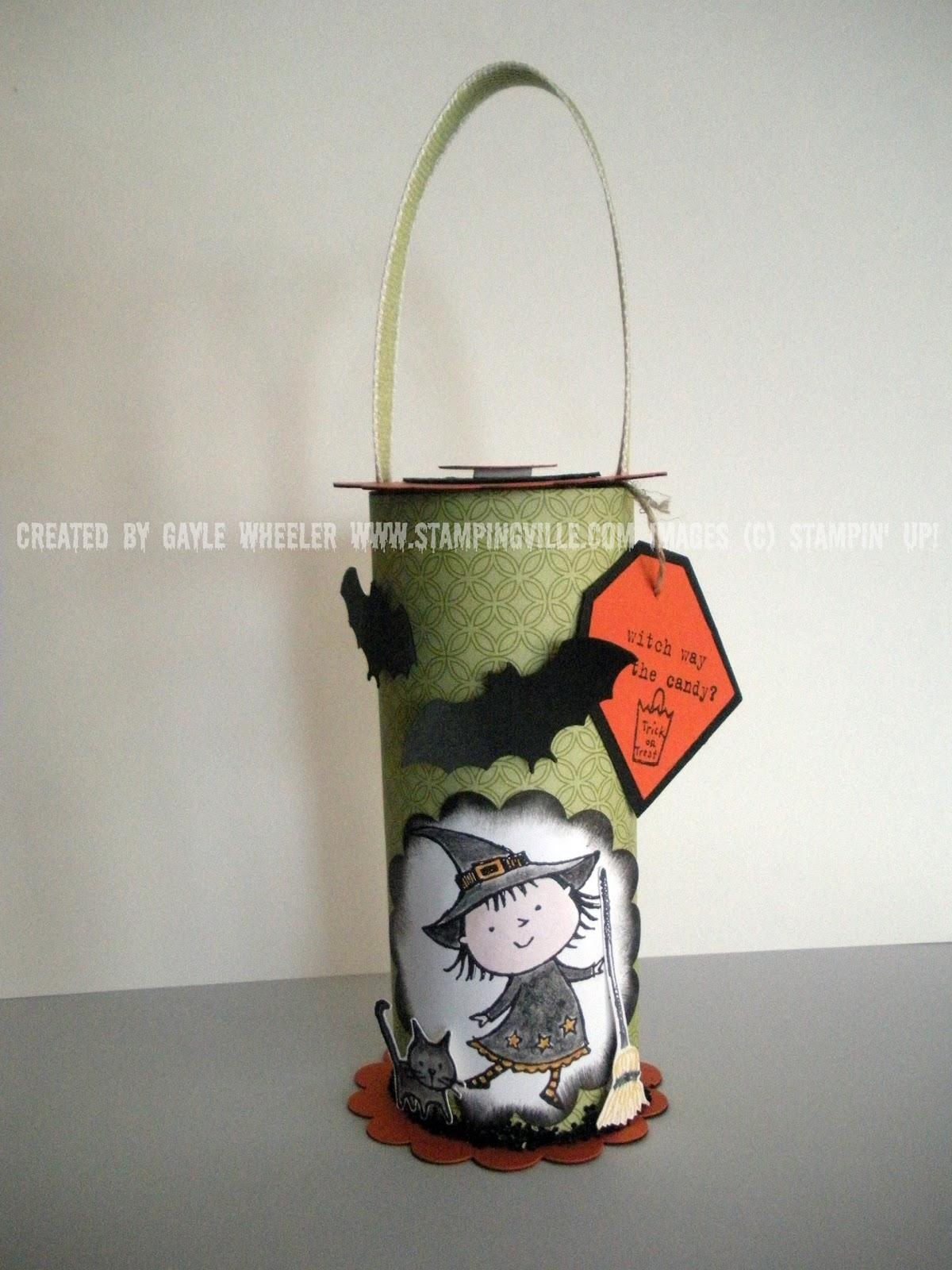 halloween crafts – toilet paper roll treat holder
