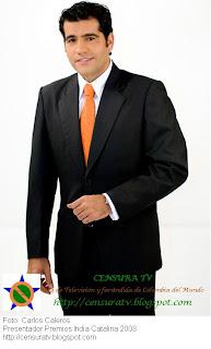 Carlos Calero, Presentador de Los Premios India Catalina 2008