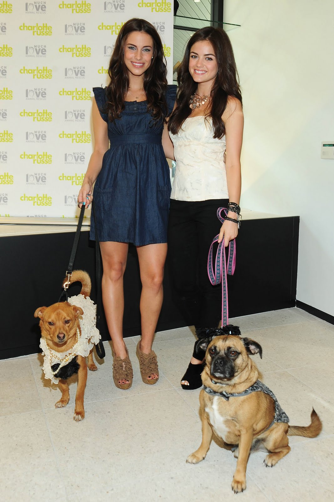 Gossip Freak: Lucy Hale and Jessica Lowndes at Charlotte Russe Store ...