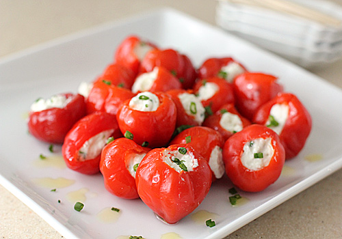 ... Galley Gourmet: Peppadew Peppers stuffed with Feta, Garlic, and Chives