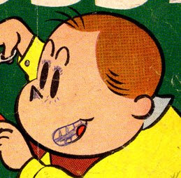 Tubby comic book cover defaced by a little kid with a ballpoint pen