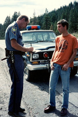 Marc Bookman and cop