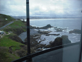 View from top of Yaquina Lighthouse