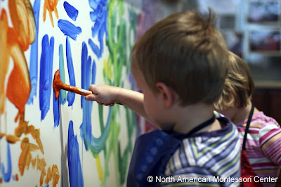 montessori students painting procedures guide