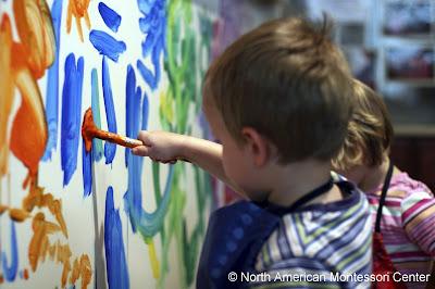 montessori students painting procedures guide
