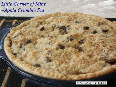 Little Corner of Mine: Apple Crumble Pie