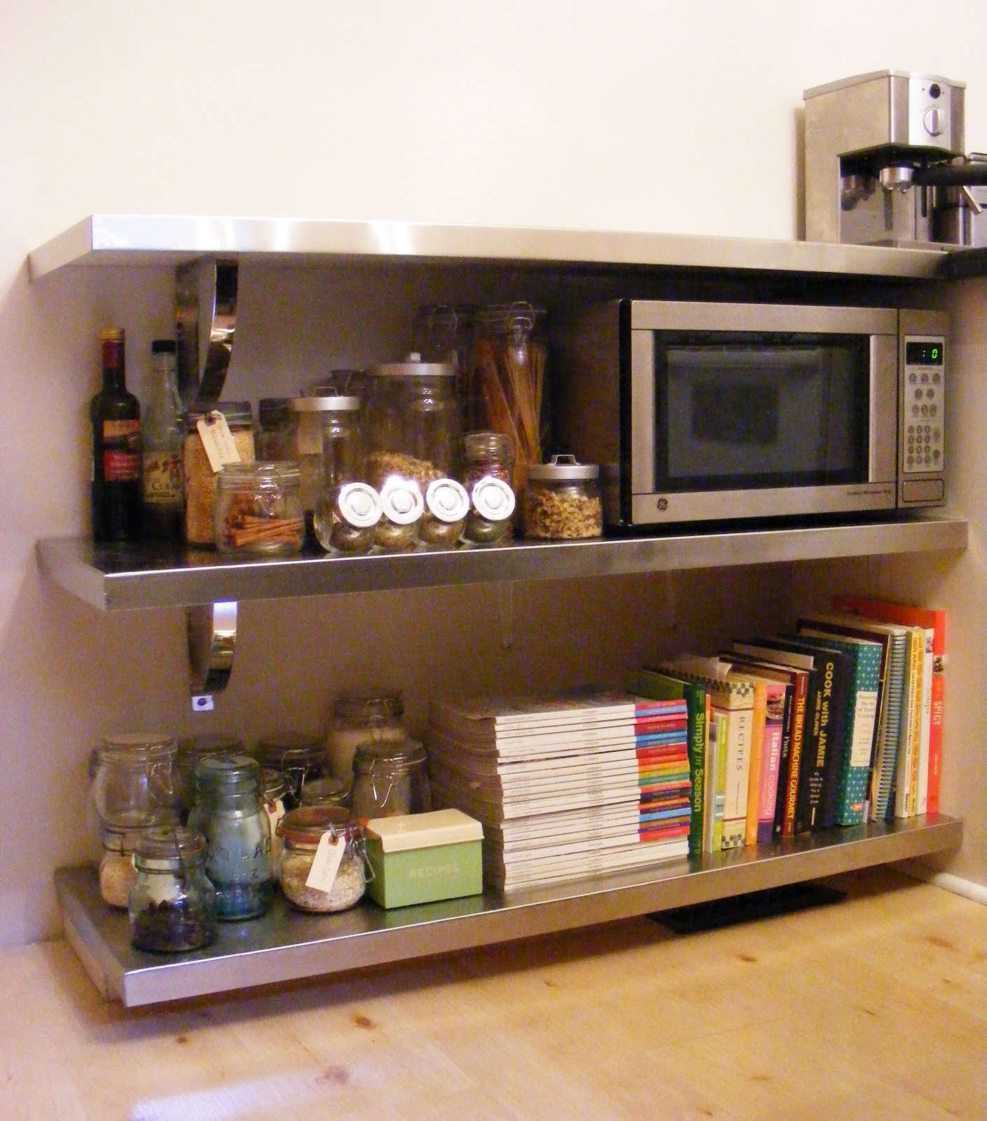 Kitchen Shelves Pictures: Jenna Rose Journal: Kitchen Renovation: DIY Stainless