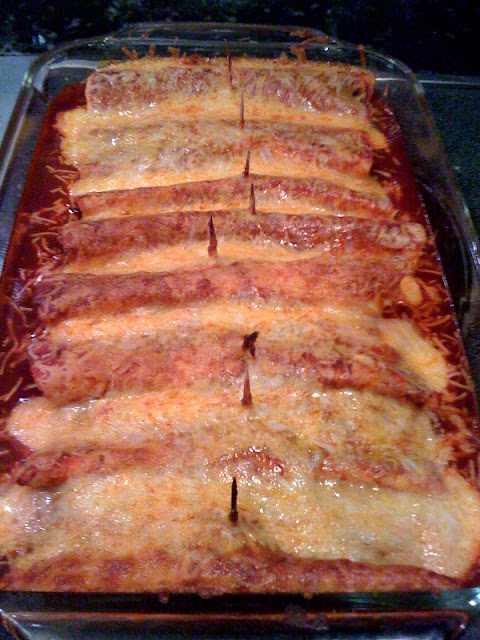 skinny cheesy ground turkey enchiladas