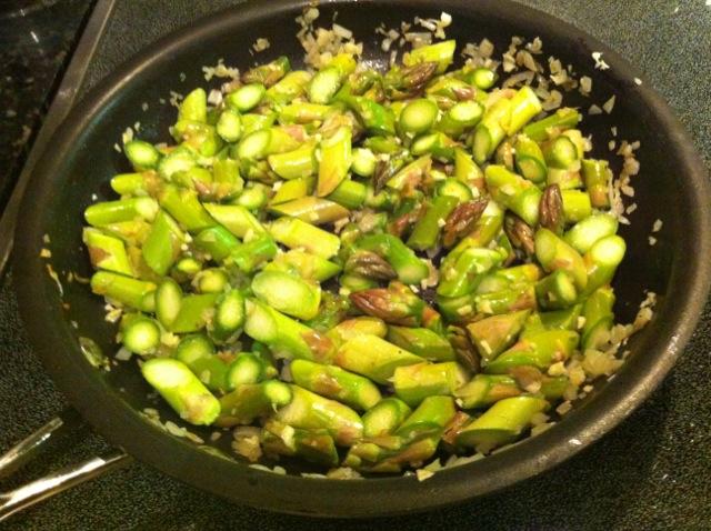 sauteed asparagus garlic shallots