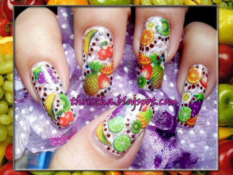 Fruit ninja inspired nails