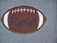Football Applique with name