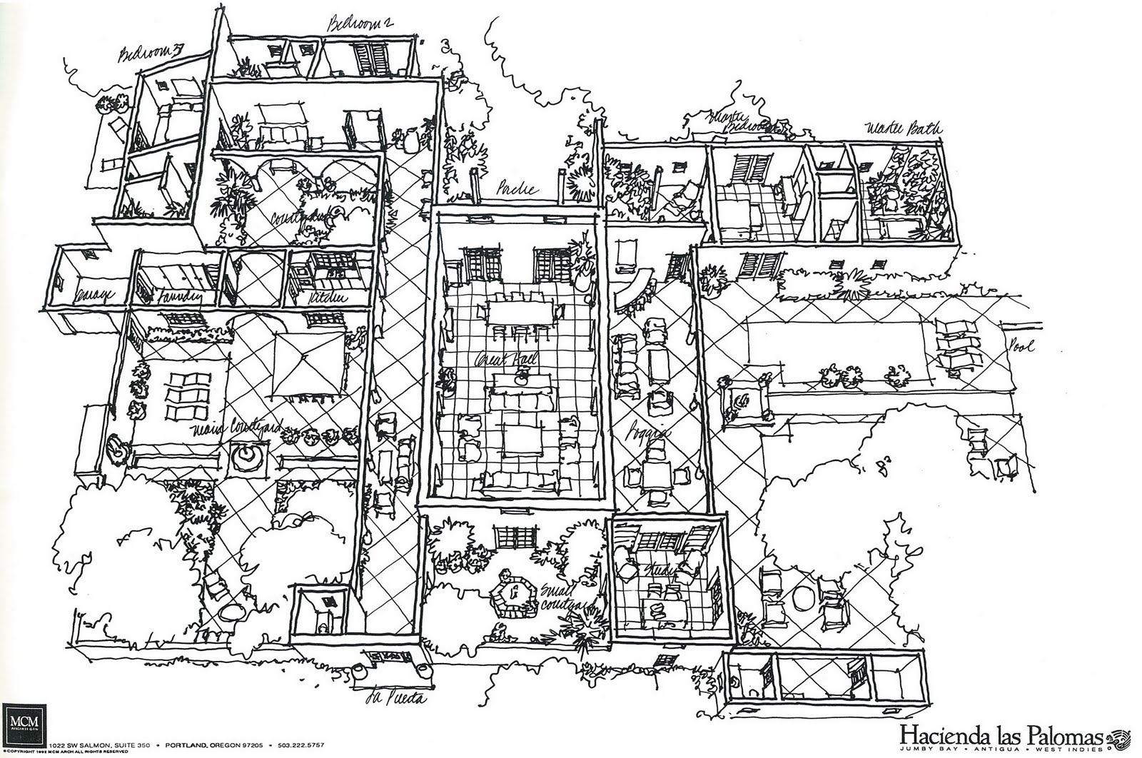Spanish hacienda floor plans houses plans designs for Mexican hacienda floor plans