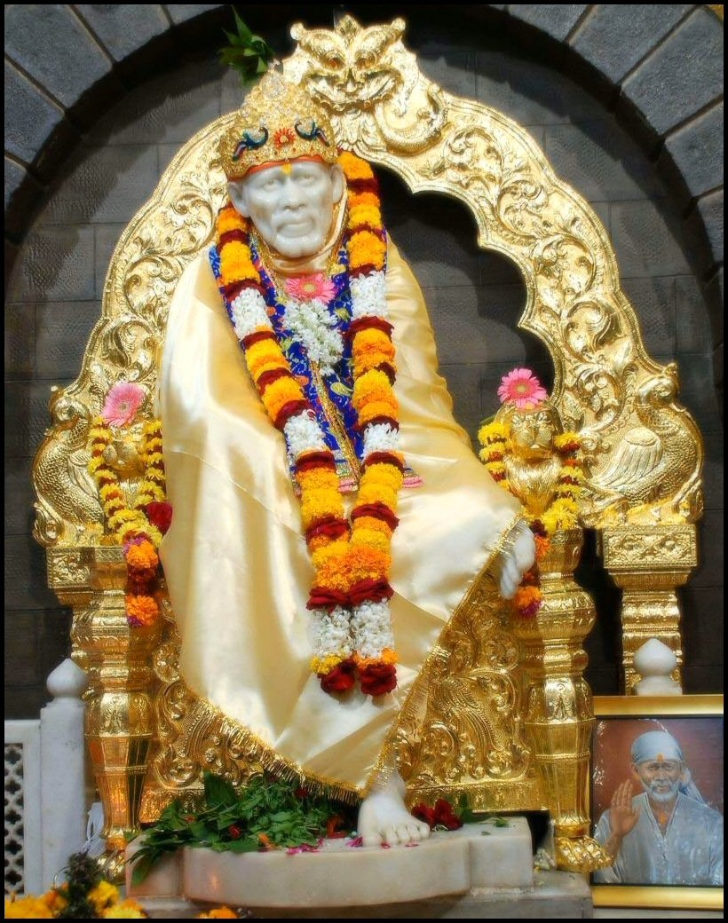 Download the Free shirdi sai baba kishna wallpaper Wallpaper