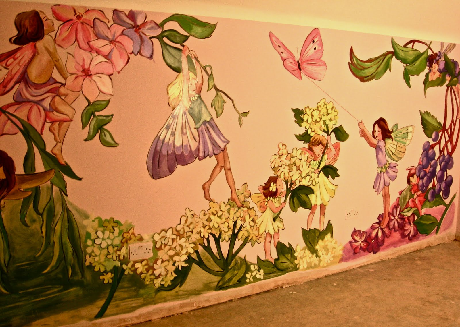Fairy murals tattoo design bild for Fairy wall mural