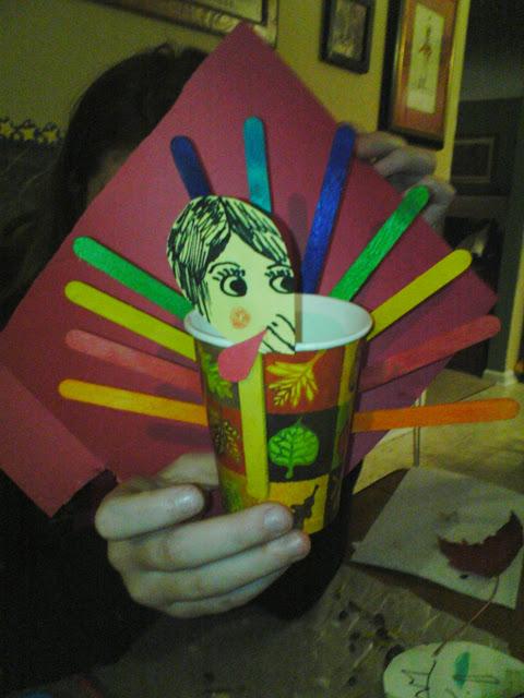 turkey snack craft idea for kids thanksgiving celebration